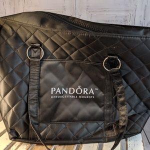 Pandora nylon black purse handbag bag carry travel